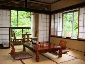 名剣温泉:峡谷を望めるお部屋