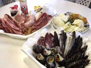 ありが島 海の家:海鮮BBQ(例)