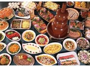 知床第一ホテル:マルスコイでのバイキングの料理の数々。これだけではありません!!
