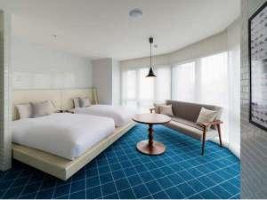 ホテル エディット 横濱:☆エディット一押し☆禁煙コーナーツインルームは広々31㎡に開放的な大きな窓。