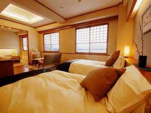 稚内声問温泉ホテルめぐま:2008年2月オープンの晴れた日は利尻島が見える和洋室