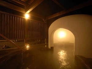 稚内声問温泉ホテルめぐま:雪あかりの湯(露天風呂)