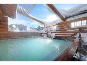 万座亭:冬期露天風呂