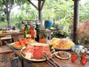 ホテル 花と緑のみずほ石垣島:*みんなでワイワイBBQのご夕食をお楽しみ下さい♪
