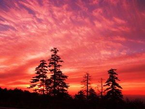 十勝岳温泉 カミホロ荘:客室から望む絶景の夕焼け