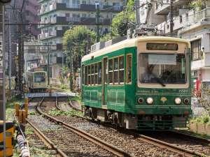 ホテルベルクラシック東京:都電荒川線情緒溢れる路面電車が近くを走っています