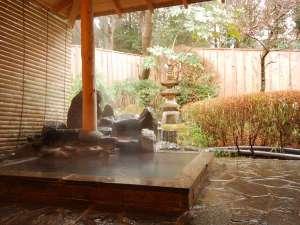 ペットと一緒に泊まれる宿 仙石高原 大箱根 一の湯:大箱根一の湯露天風呂