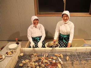 魚の栖(すみか)  網元 丸仙:当館大女将は75才の現役海女。海に潜って60年のベテラン海女さんのお話をいっぱい聞いてね!
