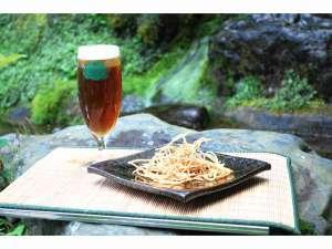 和風旅館扇松園 :今年は9月26日解禁!14年目を迎えたそば生び~るです。新そばの時期にしか作れない貴重なビールです。