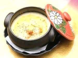 和風旅館扇松園 :人気メニュー「かぼちゃグラタン」地場のかぼちゃを使い料理人が手作りしている自慢の逸品です。