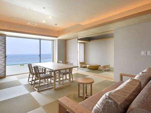 露天風呂付客室「浜水晶」特別室「月の晶」(お部屋のタイプはお任せとなります)