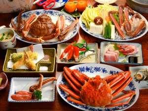 ふれあいの宿 田中荘:「冬の味覚の王様」カニカニカニのフルコース
