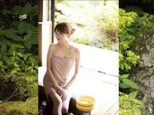 温泉名水の里 旅館 紀の国屋甚八(天川・洞川温泉):露天庭風呂