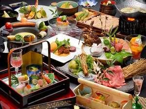 山景の宿 流辿(りゅうせん):彩り豊かな夕食 一例