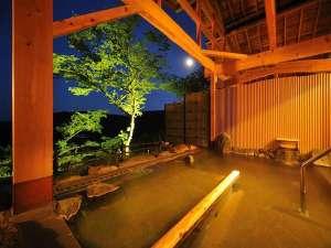 山景の宿 流辿(りゅうせん):露天風呂「陽光の湯」からは山並みや晴れた日には月を眺めながら浸かれますよ!