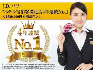 スーパーホテルLOHAS熊本天然温泉:スーパーホテルはおかげさまで、JDパワー4年連続受賞致しました☆