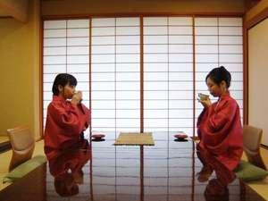 【ウェルカムサービス】お部屋にてお茶と和菓子を召し上がれ
