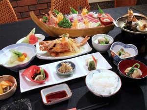 きがるな…宿・シーガル:伊豆の食材を使った創作和食(一例です)