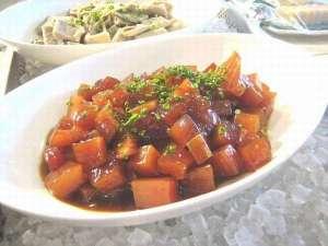 ホテルnanvan焼津:朝食でまぐろの漬けが食べ放題