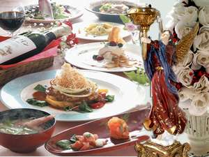 雪と蛍の舞う宿 ミストラル:和洋、織りまぜた夕食