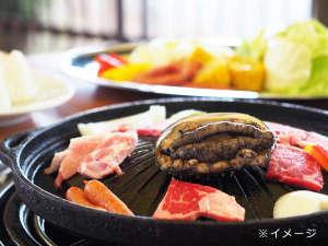 国民宿舎小豆島:BBQ★オリーブ牛&アワビコース(イメージ)
