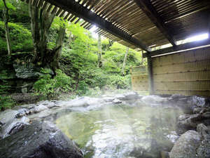 源泉遺産 那須塩原別邸 (旧 紀州鉄道 那須塩原ホテル):温泉大浴場(露天)