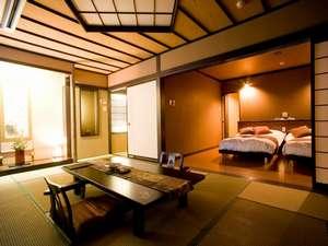 川湯第一ホテル 忍冬(SUIKAZURA):新館西館4階 和洋室(10.5~16畳+ベットルーム)。禁煙室はありません。換気、消臭対応可。