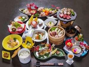美肌の湯と寛ぎの宿 光雲荘:満喫コースの料理一例