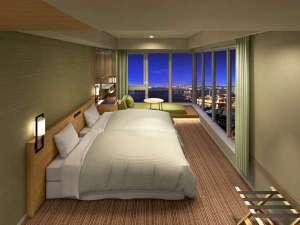 THE SINGULARI HOTEL & SKYSPA at Universal Studios Japan TM:コーナービューソファツインリバーサイドハイフロア