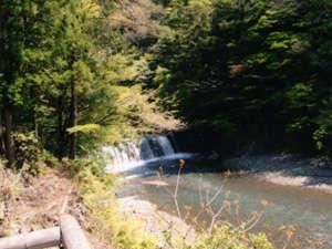 癒しの里小又川バンガロー:前の川の滝