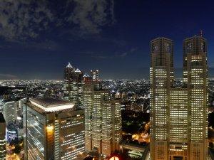 京王プラザホテル:高層階客室からの眺め(一例)