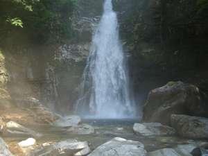 上湯温泉 神湯荘:笹の滝マイナスイオンタップリの滝のシャワー