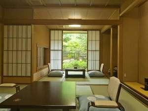 金沢辰口温泉たがわ龍泉閣 北陸最大級の星空露天:前庭が美しい「椿苑」の客室