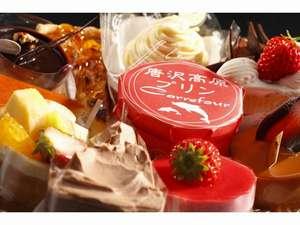 プチホテル 稲取リゾート:夕食のデザートには地元で人気のケーキをどうぞ。お代わりもできちゃう♪