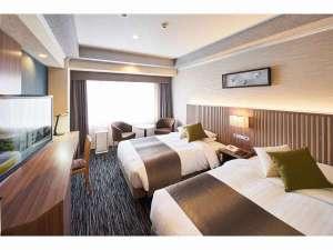パレスホテル立川:ツイン24.2㎡【リニューアル】120×200【シモンズ社製】のベッドでお休み下さい