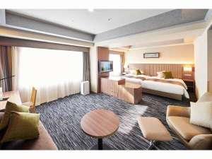 パレスホテル立川:デラックスツイン40.7㎡【リニューアル】140×200【シモンズ社製】のベッドでお休み下さい