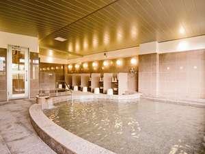 綾 てるはの森の宿:2010年オープンの新館大浴場 自然鉱石麦飯石温泉(ヘルストン人工温泉)