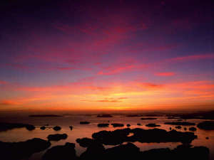 九十九島ベイサイドホテル&リゾートフラッグス:<周辺観光情報>九十九島の夕景