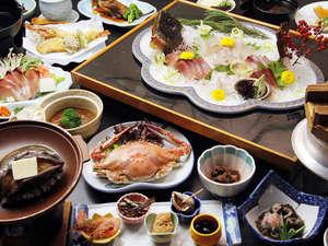 料理旅館 季(とき)と海の恵み 紅葉屋:アワビの踊り焼きに、新鮮会席料理♪名物釜飯も・・・。