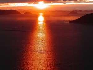 ペットと泊まる屋島の宿 桃太郎:夕陽百選の地に選ばれています。