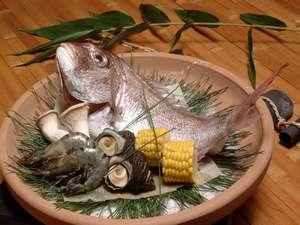 ペットと泊まる屋島の宿 桃太郎:讃岐の郷土料理、焙烙焼きです。