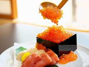 函館湯の川温泉ホテル河畔亭:朝食でイクラ(マスイクラ)等が食べ放題【2019年3月末まで】*鮭のイクラよりも小粒のイクラです♪