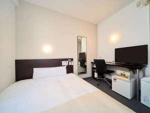 スーパーホテル広島:150㎝幅ダブルベッド&32型液晶TV&加湿空気清浄機完備♪
