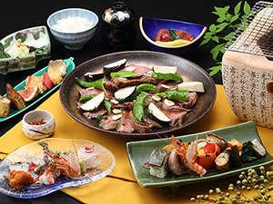 新近江別館:滋賀県の名産「近江牛」を堪能できるお料理もご用意しております。