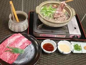 リブマックスリゾート鬼怒川:夕食アップグレード①♪栃木牛すきやき