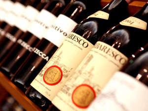【イタリアワインを中心に豊富な品揃え】