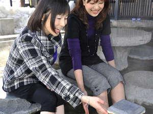 飯塚旅舘:*当館より車で約3分・津軽伝承工芸館にある足湯!無料で楽しめます♪