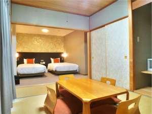 箱根小涌谷温泉 ヴェルデの森 WLC:和洋室の一例。洋室と和室の両方をご利用いただけます。