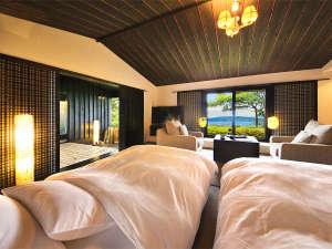 鳴門パークヒルズ ホテルリッジ:客室は全て【オーシャンビュー】時間ごとに表情を変える海を、お部屋で寛いだままご覧になれます。