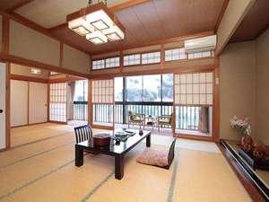 咲花温泉 河畔の宿 碧水荘:せせらぎ館客室広い2間続きの「野尻」
